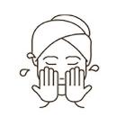 洗顔で肌をきれいにする
